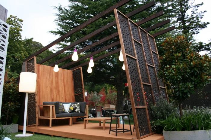 gartenzaun ideen sichtschutz vorgarten l s gartengestaltung ... - Besondere Ideen Gartengestaltung