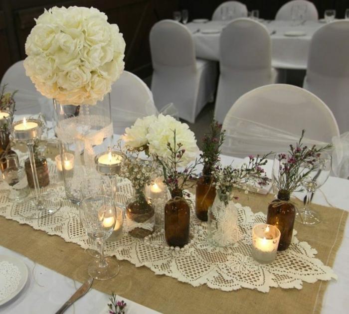 Hbsche Varianten fr Hochzeit Tischdekoration  Archzinenet