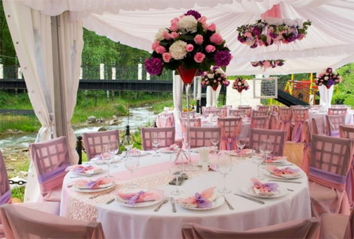 Hbsche Varianten fr Hochzeit Tischdekoration