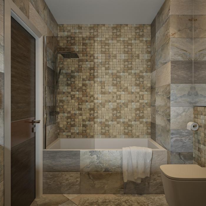 Badezimmer mit Mosaik gestalten 48 Ideen  Archzinenet