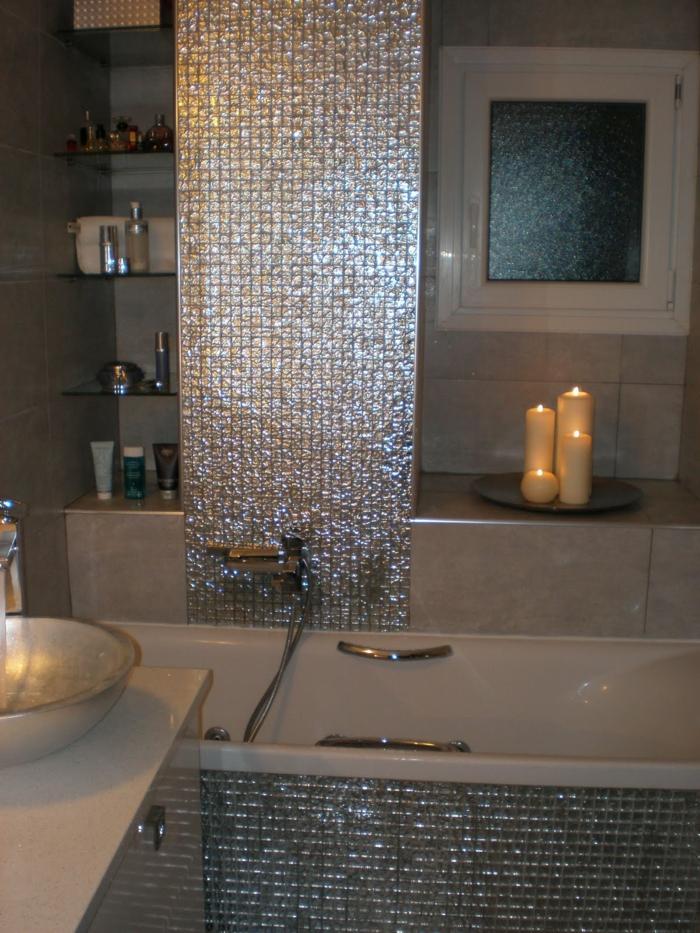 Badezimmer Mit Mosaik Fliesen