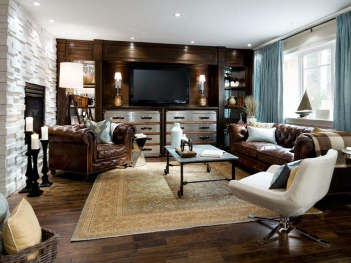 interessante und schone wandgestaltung im wohnzimmer - meuble garten, Badezimmer