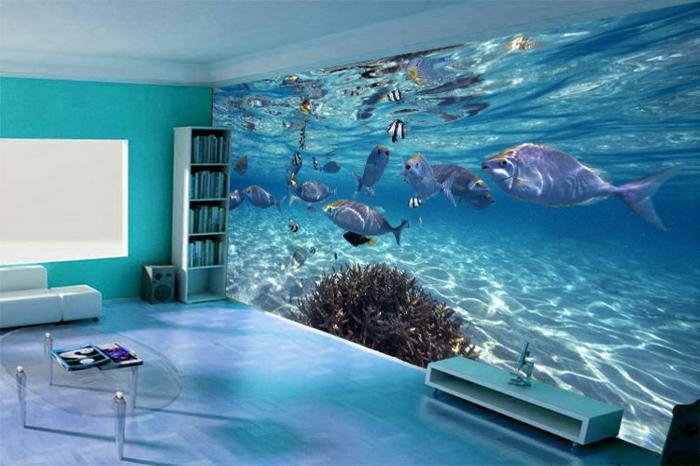 Design Wohnzimmer Design Beispiele Wohnzimmer Design Bilder Design ... Wandgestaltung Wohnzimmer Blau