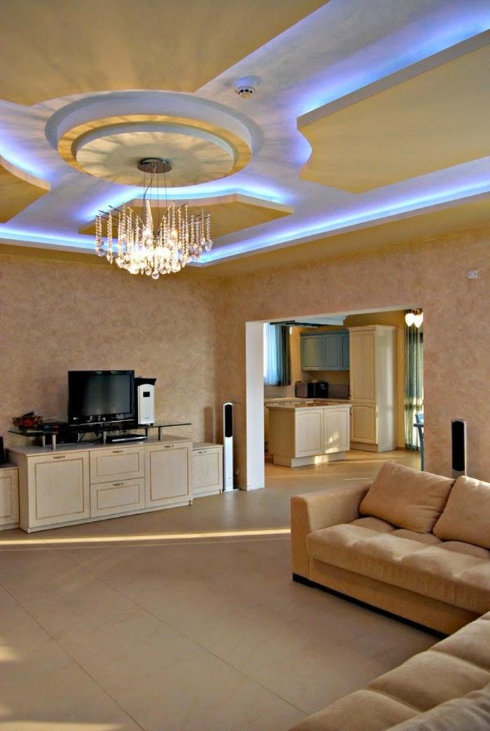 Indirekte Beleuchtung frs Wohnzimmer 60 Ideen  Archzinenet