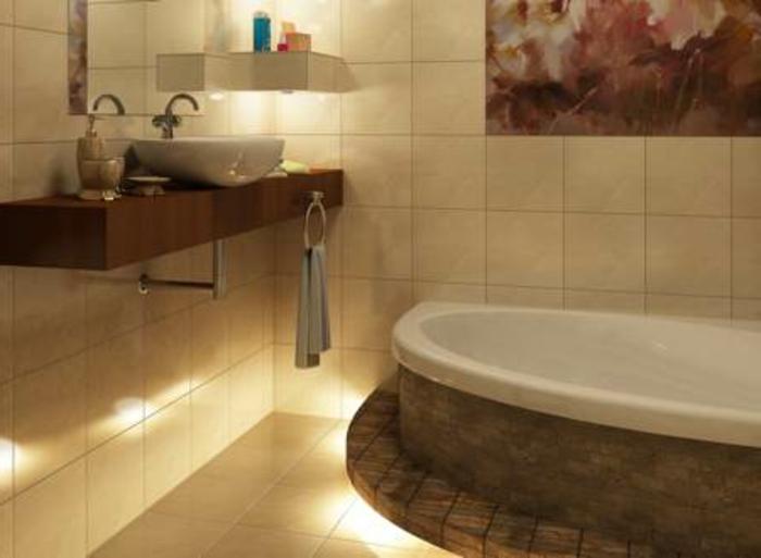 LED indirekte Beleuchtung fr ein exklusives Badezimmer