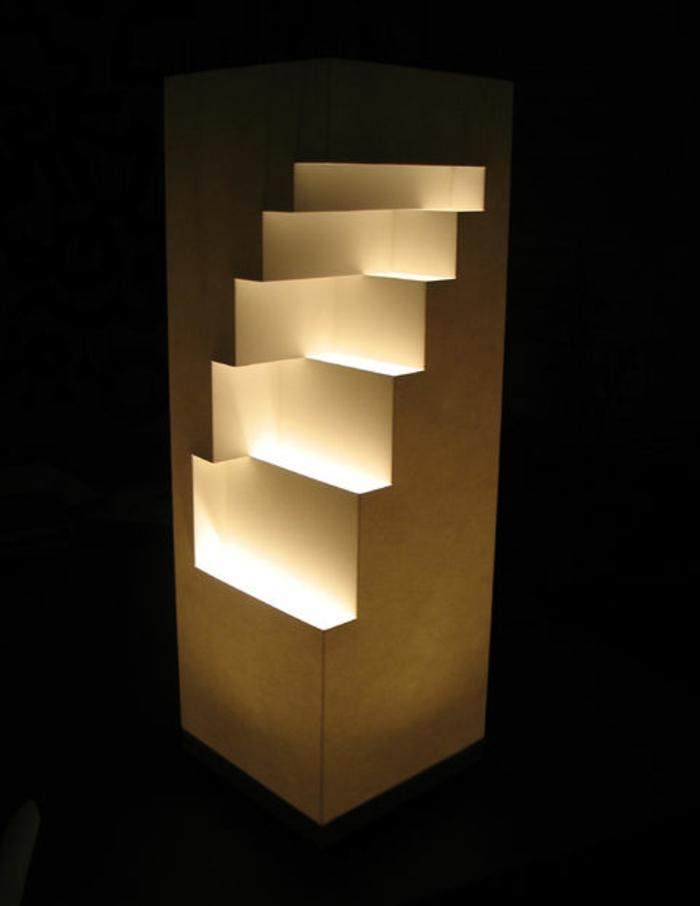 Stehlampe aus Papier fr ein aufflliges Interieur