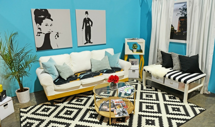 wohnzimmer schwarz grun design wohnzimmer braun schwarz wei ... - Wohnzimmer Schwarz Blau
