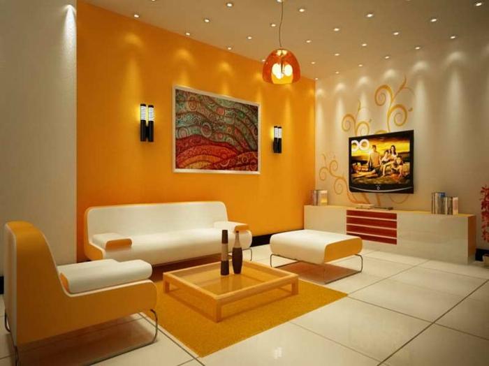 Wohnzimmer Orange ? Abomaheber.info Wohnzimmer Ideen Orange
