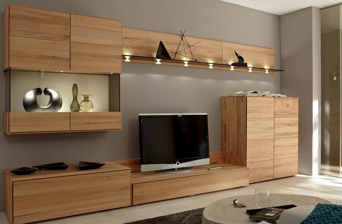 Wohnwand aus Holz fr mehr Gemtlichkeit im Zimmer  Archzinenet