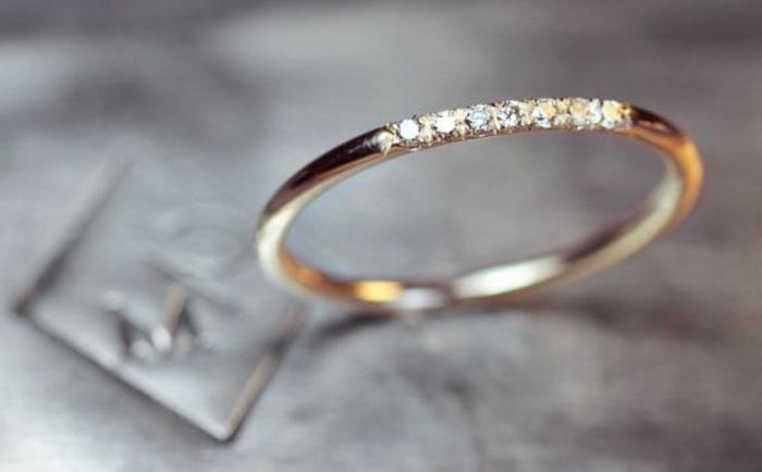 Silberring Verlobungsringe von AMOONIC mit SWAROVSKI