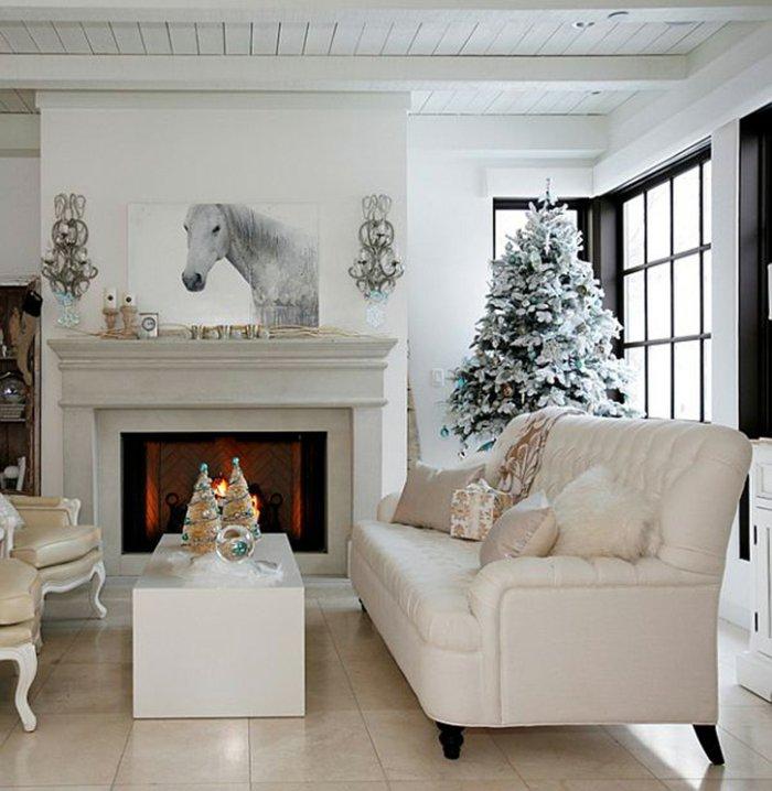 Weihnachtsdeko Im Wohnzimmer Bild  Wohndesign