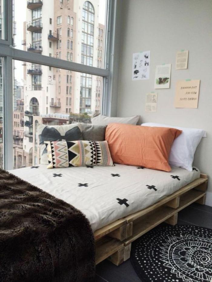 Interieur Ideen mit Europaletten Bett  Archzinenet