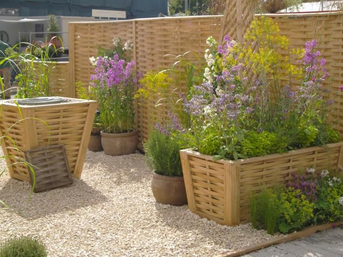 garten pflanzen pflanzkubel - sichtschutz, Gartengerate ideen
