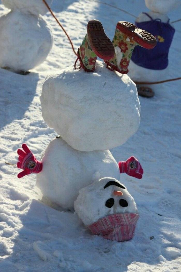 Wer will einen coolen Schneemann bauen