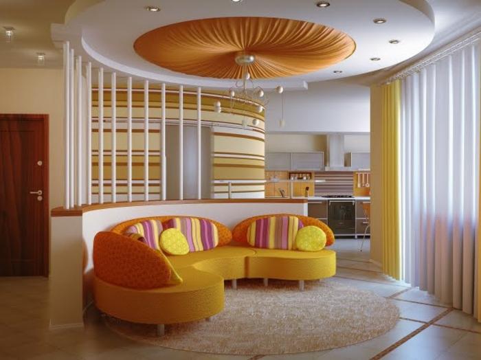 zimmerdecken neu gestalten interessante formen und farben - boisholz - Zimmerdecken Gestalten