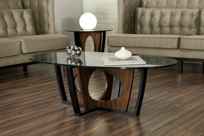 couchtisch oval holz glas. Black Bedroom Furniture Sets. Home Design Ideas