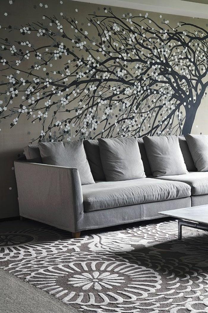 Interessante Und Schone Wandgestaltung Im Wohnzimmer