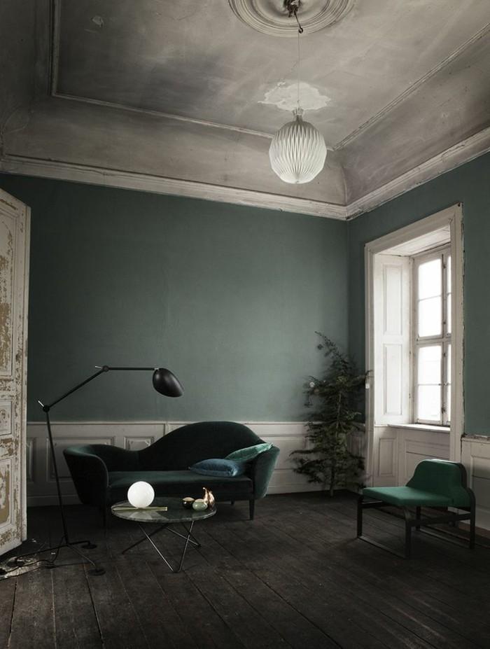 wohnzimmer farblich gestalten grun - meuble garten - Wohnzimmer In Petrol Gestalten