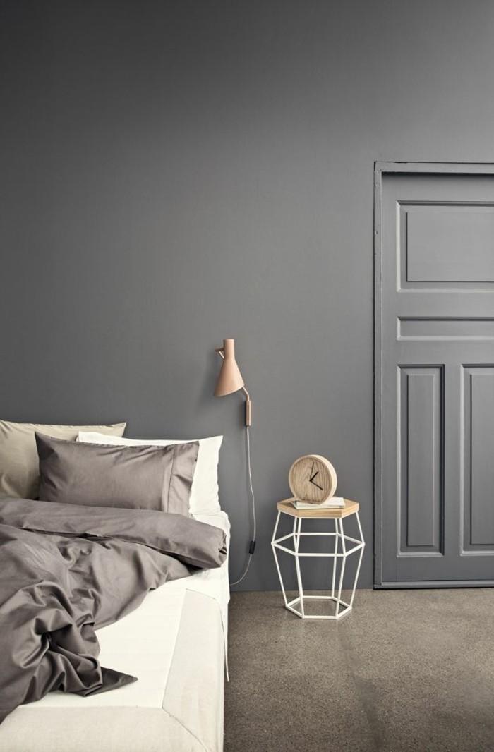 schlafzimmerwand gestalten schlafzimmer streichen ideen grau ... - Schlafzimmer Wand Grau
