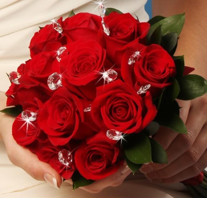 Rosenstrau fr ein Valentinstag in Rot  Archzinenet