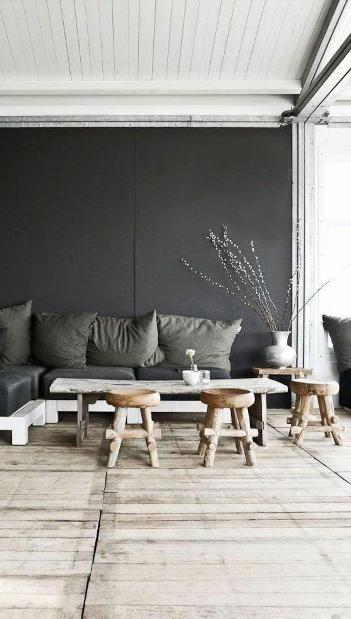 Die graue Wandfarbe  43 Interieur Ideen damit  Archzinenet