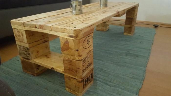 kaffeetisch aus paletten selber machen » terrassenholz, Möbel