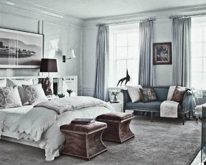 Schlafzimmer Wandfarbe Ideen in 140 Fotos  Archzinenet
