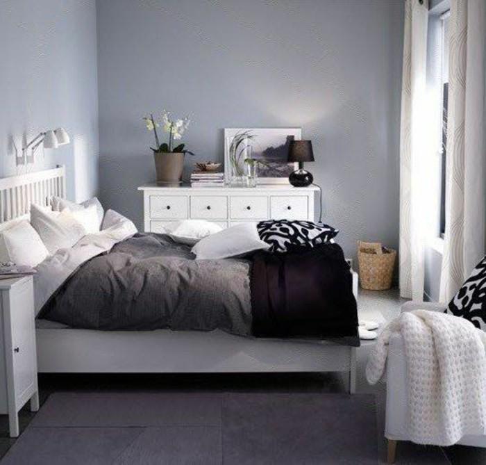 Schlafzimmer Farbideen Grau Blau Lila Kleiner Raum - Boisholz