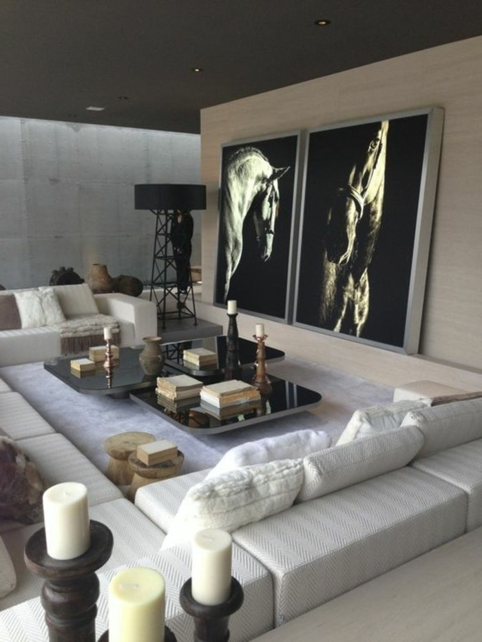 Einladendes Wohnzimmer dekorieren Ideen und Tipps  Archzinenet