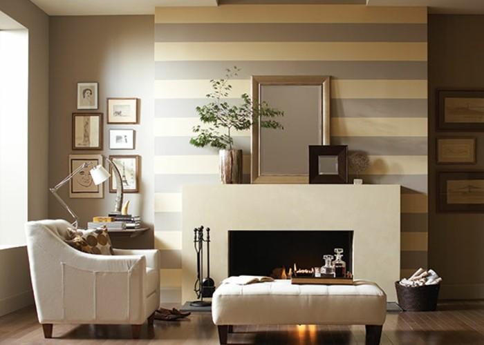 wohnideen wohnzimmer wandgestaltung | sichtschutz - Kamin Wandgestaltung