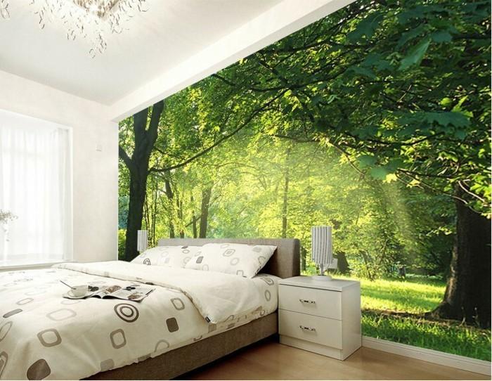 Fototapete Wald Schlafzimmer