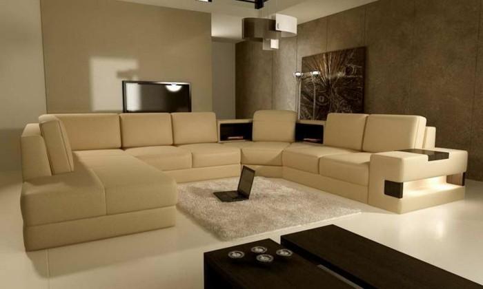 Wohnideen Wohnzimmer Braun