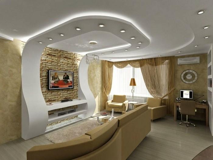 Welche Deckengestaltung frs Wohnzimmer gefllt Ihnen  Archzinenet