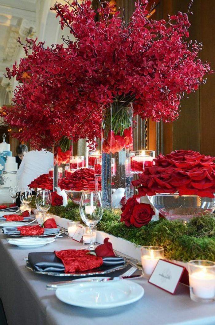 42 faszinierende Tischdekoration Ideen in Rot  Archzinenet