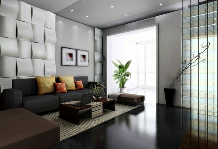 Wohnzimmer Farbgestaltung Wände   Ideen Für Wandgestaltung ...