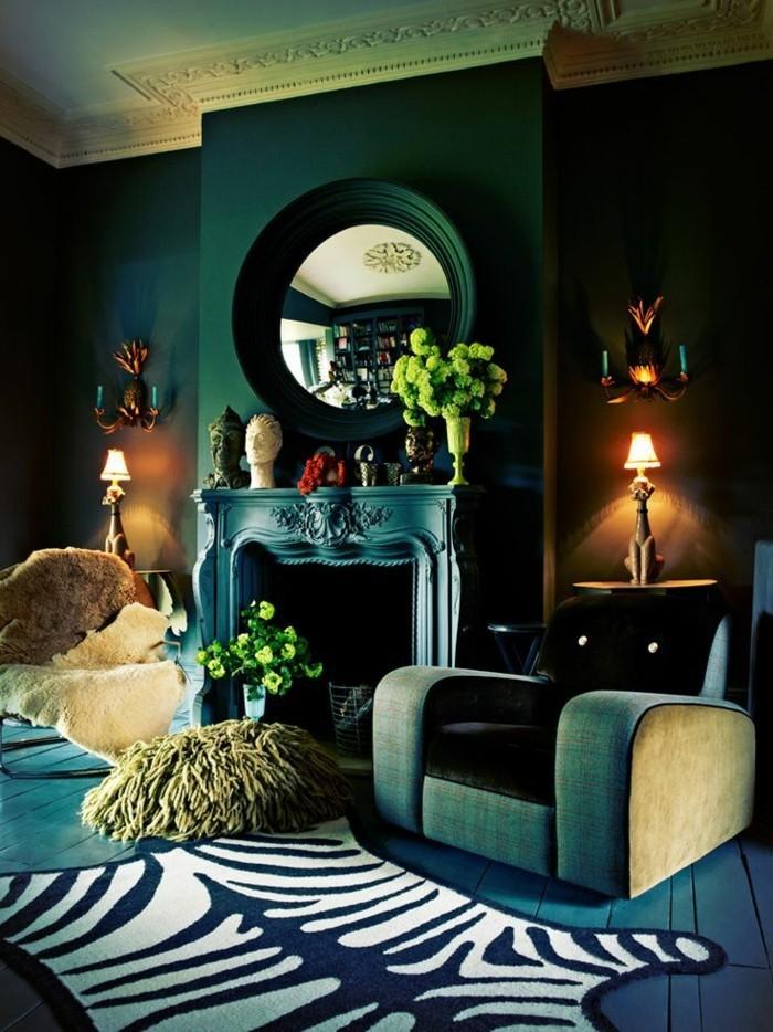 Die wunderschne und effektvolle Wandfarbe Petrol