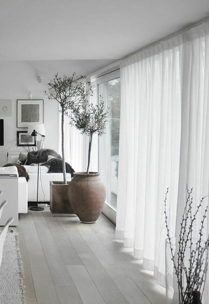 Wohnzimmer Fenster Gardine