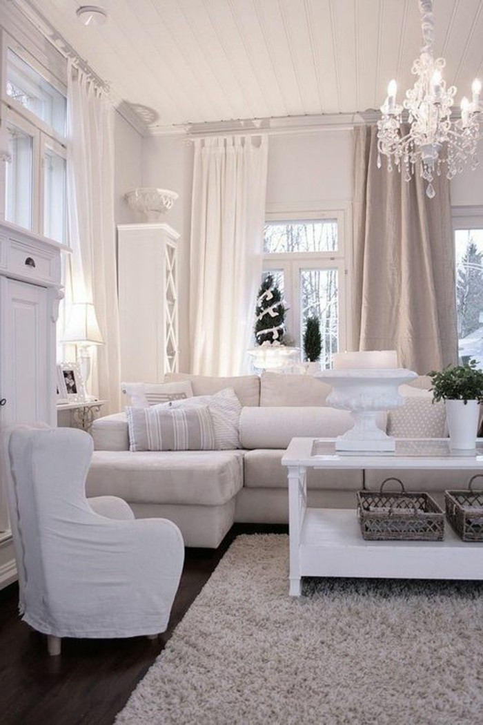 Gardinen fr Wohnzimmer  eine durchsichtige Dekoration  Archzinenet