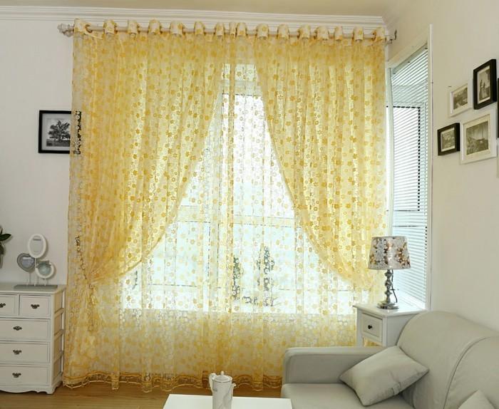 Gardinen fr Wohnzimmer  eine durchsichtige Dekoration