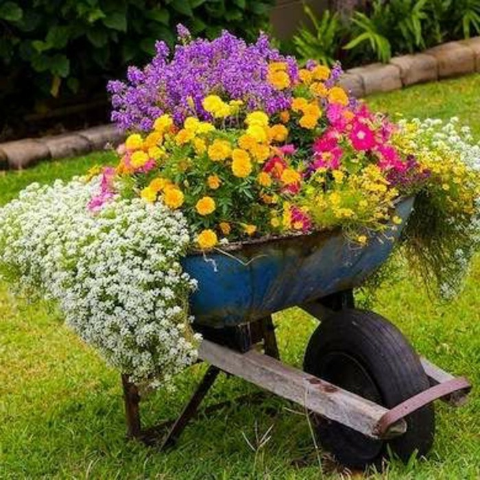 Gartendeko selber bauen  Bunte Gartendeko Selber Machen – Frische Und Schönheit Im Garten ...