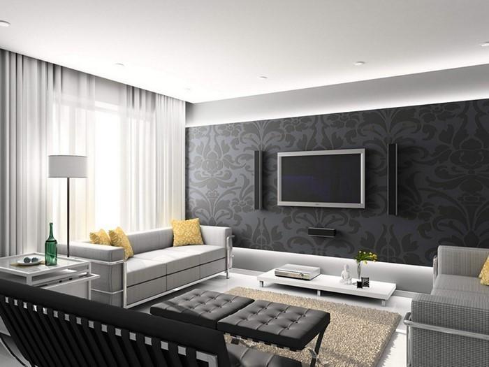 stunning deko wohnzimmer schwarz ideas - house design ideas