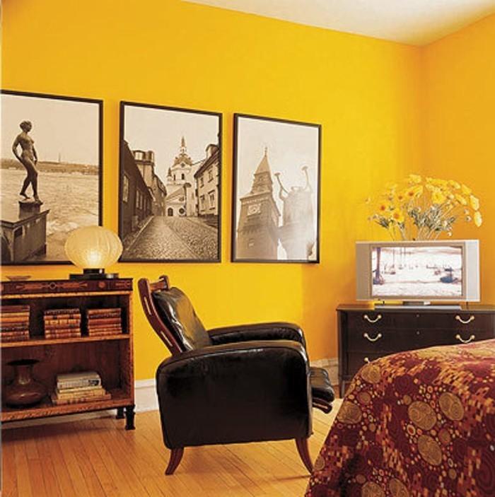 100 Interieur Ideen mit grellen Wandfarben  Archzinenet