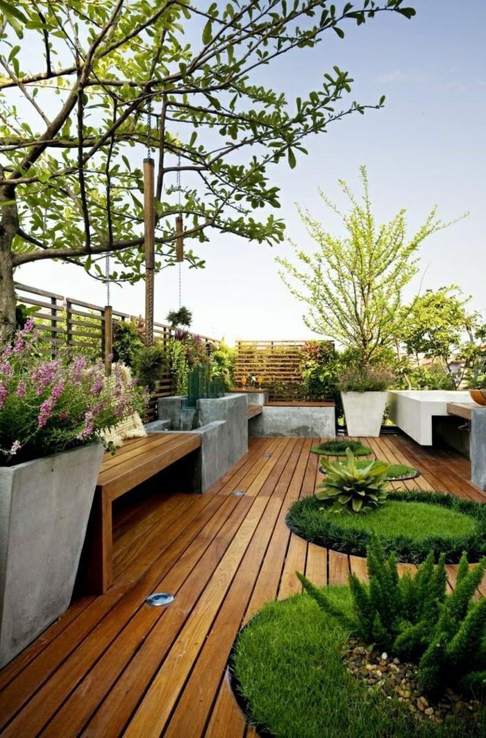 Gartengestaltung Mit Holz - Wohndesign