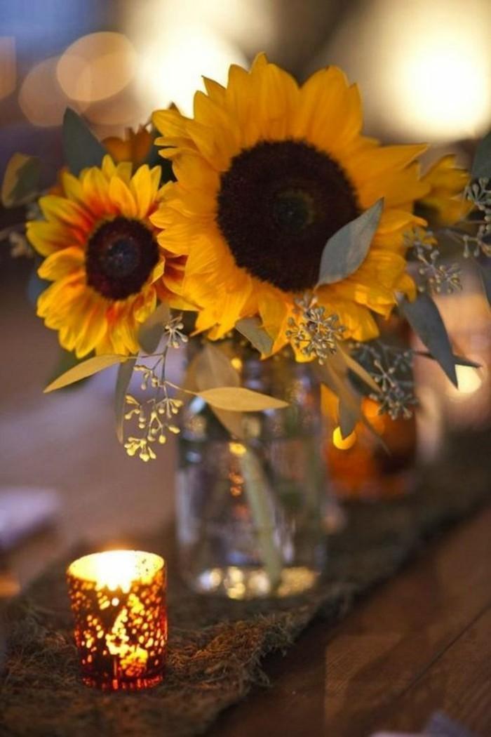 Tischdeko mit Sonnenblumen  ber 50 sonnige Vorschlge  Archzinenet
