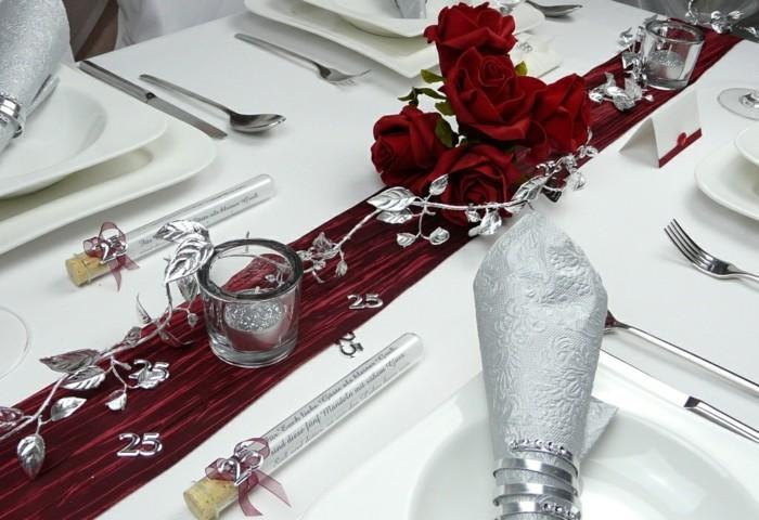 Tischdeko zur Silberhochzeit fr eine unvergessliche Feier