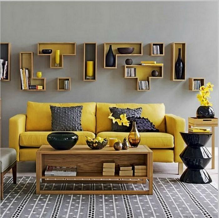 Wohnzimmer Ideen Gelb Images