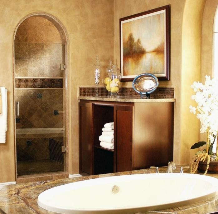 Mediterranes Badezimmer  so baden Sie wie im Mittelmeerraum  Archzinenet