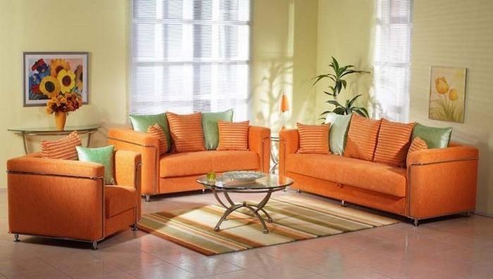 Farben fr Wohnzimmer in Orange 80 Wohnideen