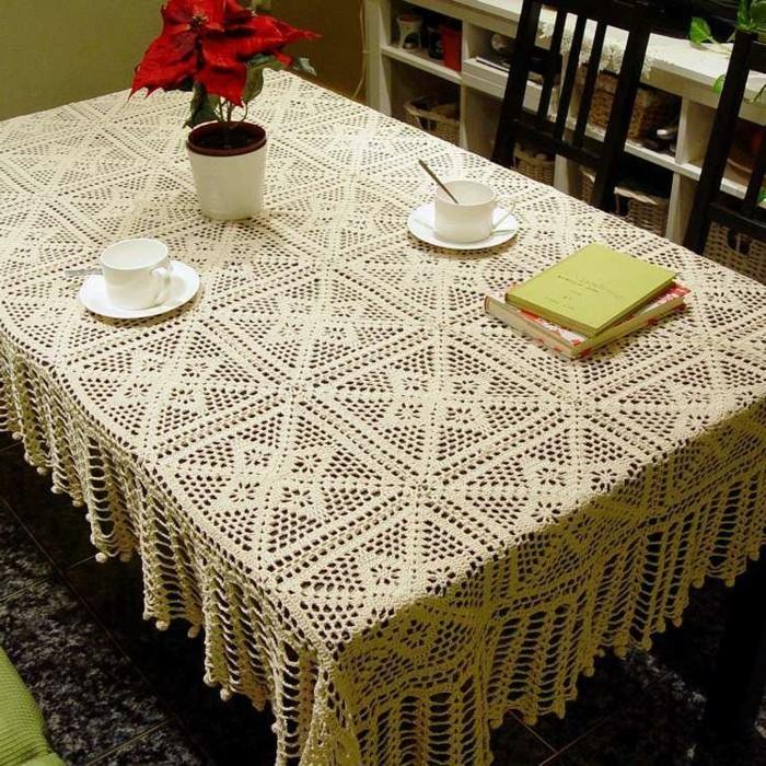 Tischdecke hkeln  erholsames und praktisches Hobby
