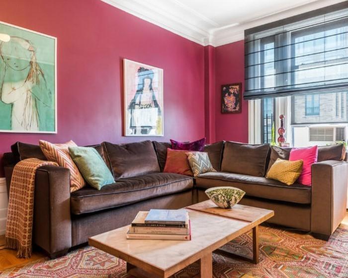 Wohnzimmer Ideen mit Rosa 75 verblffende Wohnzimmer Ideen